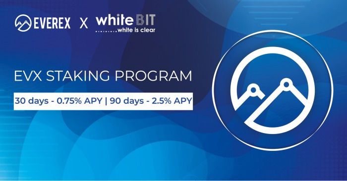 EVX Staking now Available With WhiteBit!