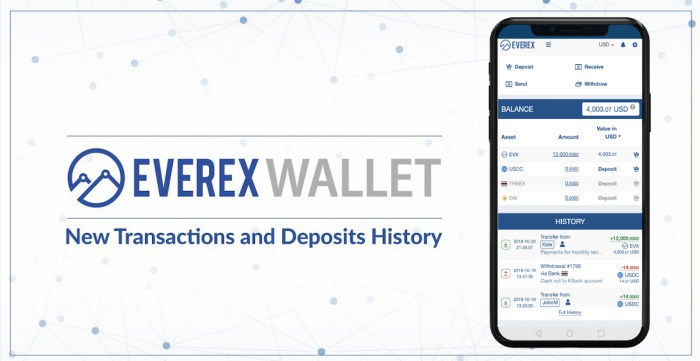 Easy, sleek, and user-friendly: Everex Rolls Out Improved Wallet UI